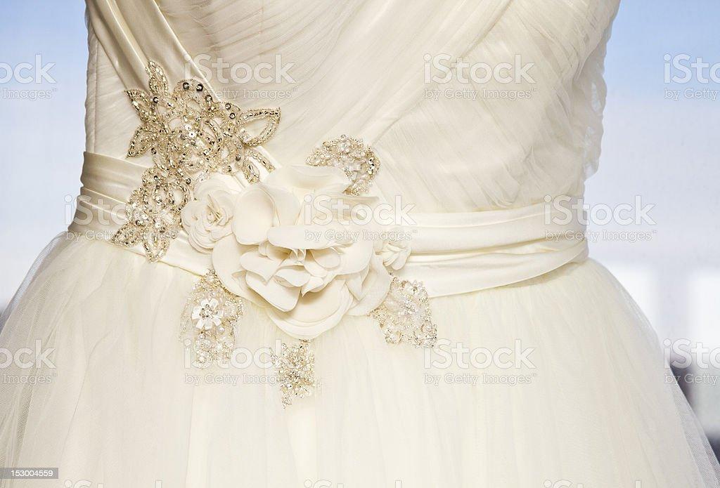 Sheer Beauty Wedding Dress stock photo