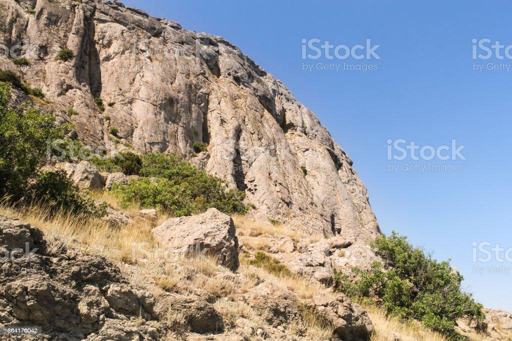 Sheer rock stone. royalty-free stock photo