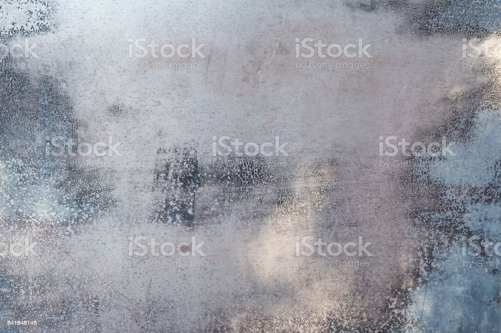 Sheet Metal and Worn Paint stock photo