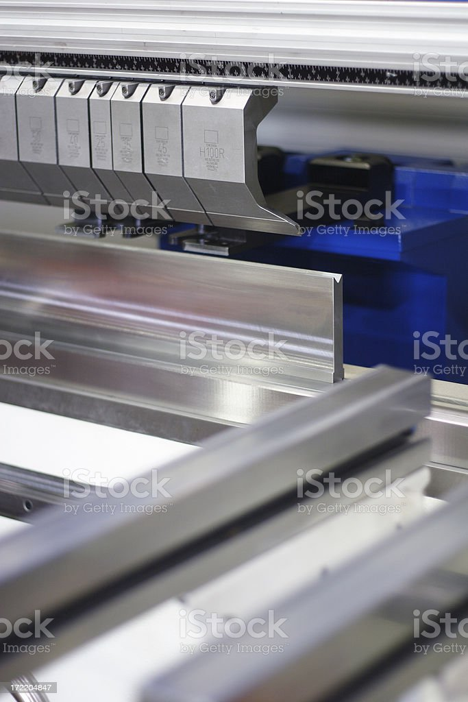 Sheet Metal Bending Machine royalty-free stock photo