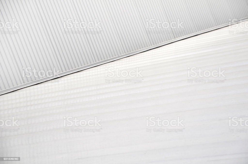 Sheet metal, corrugated wall building stock photo