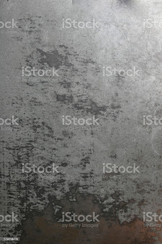 Sheet metal that has been worn down stock photo