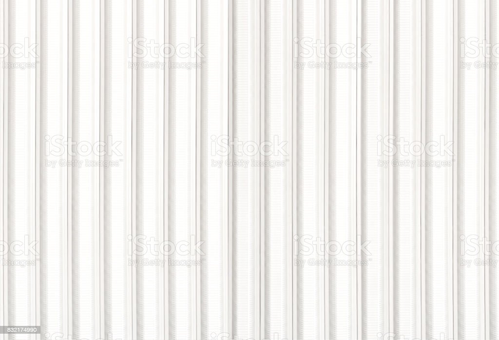 Sheet metal white texture corrugated with little light-texture. stock photo