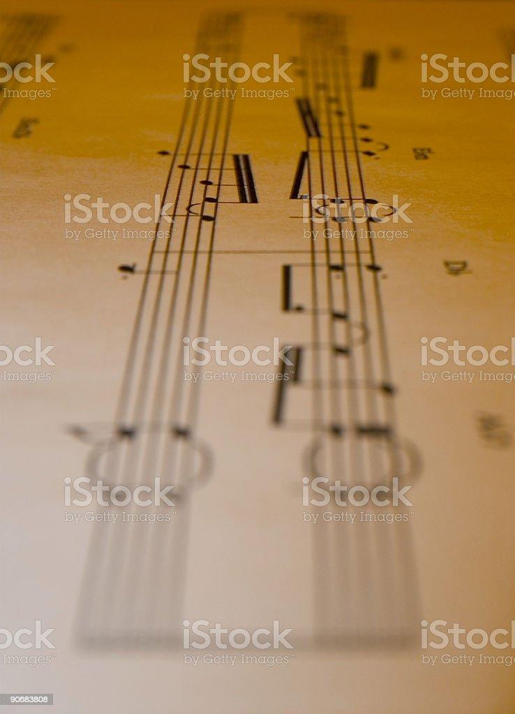 Sheet Music 2 royalty-free stock photo