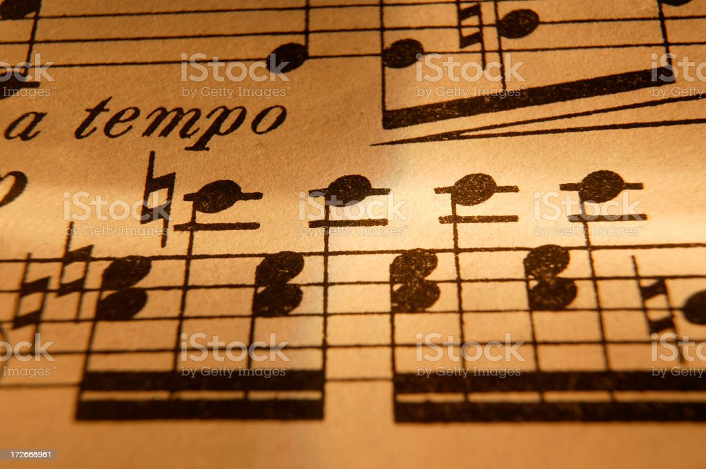 Sheet Music 3 royalty-free stock photo