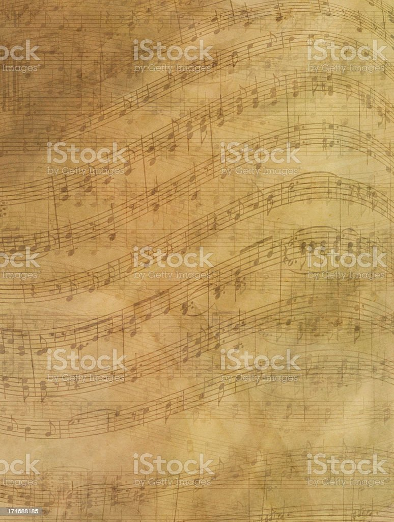 Sheet Music Abstract Background stock photo