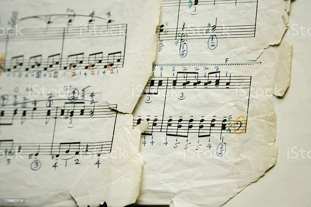 sheet Music - aged royalty-free stock photo