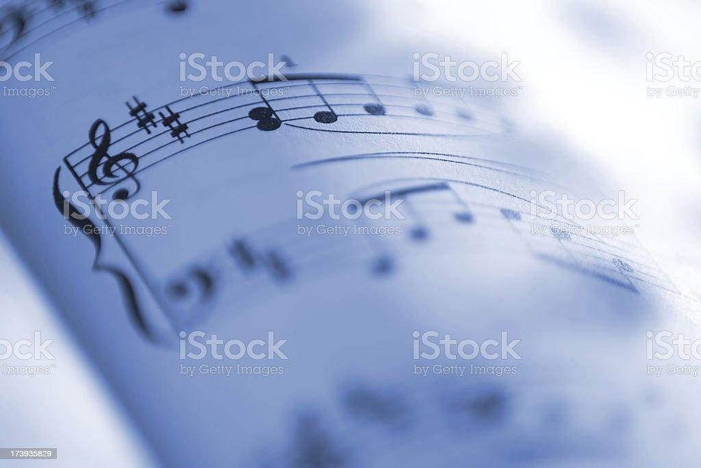 Sheet music notes royalty-free stock photo