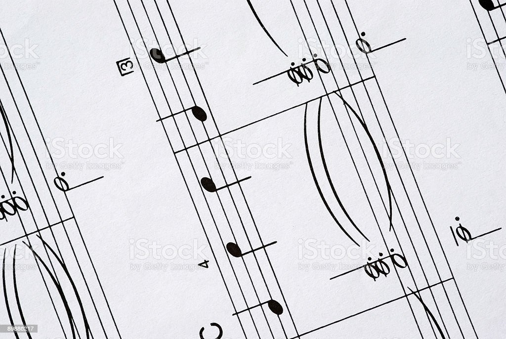 Sheet Music (detail) royalty-free stock photo