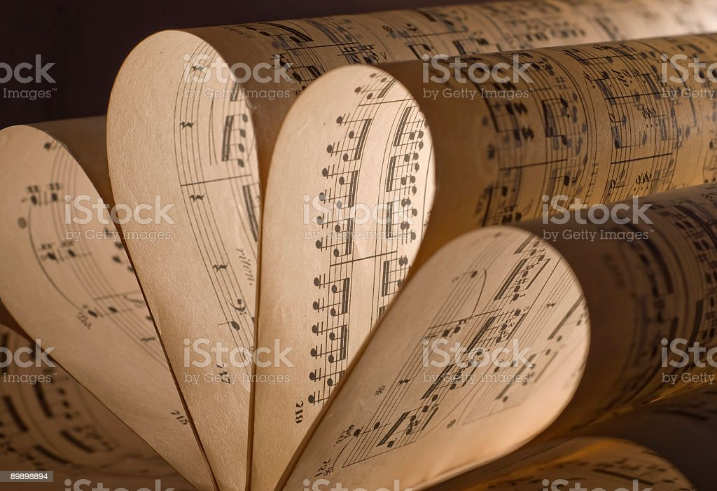 Sheet music royalty free stockfoto