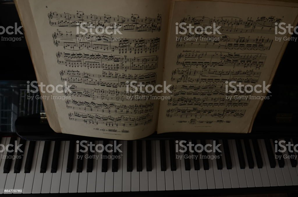 Sheet Music Score Partition Old Piano Paper