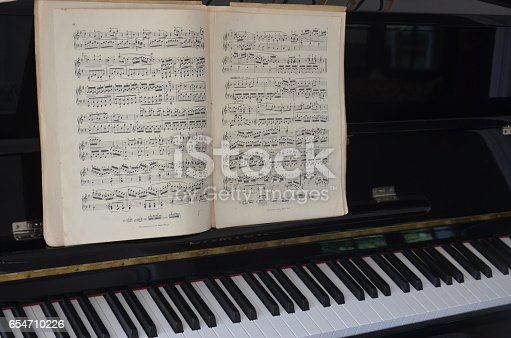 Sheet Music Score Partition Old Piano