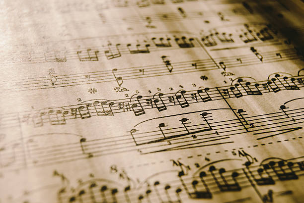 Sheet Music, vintage stock photo