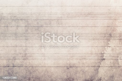 Sheet music without notes, horizontal lines, empty surface