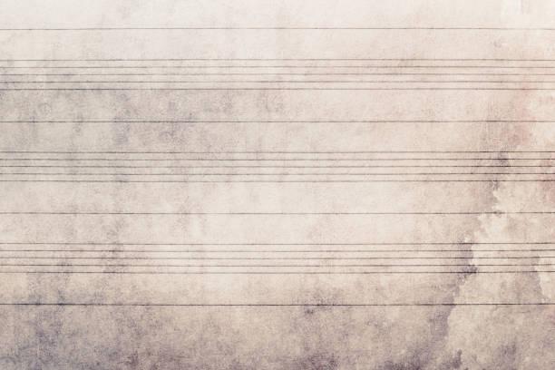 sheet music without notes, horizontal lines, texture background - pięciolinia zdjęcia i obrazy z banku zdjęć