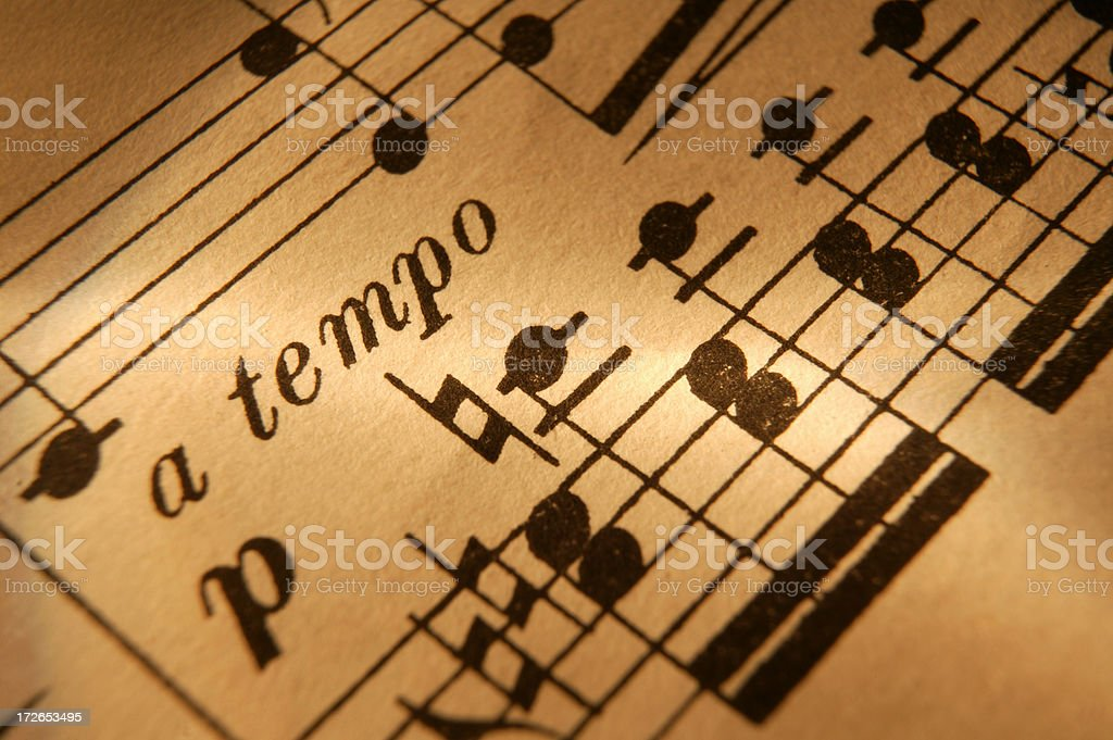 Sheet Music1 stock photo