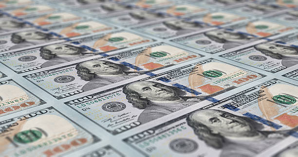 Sheet of 100 dollar notes Uncut sheet of printed 100 dollar notes us currency stock pictures, royalty-free photos & images