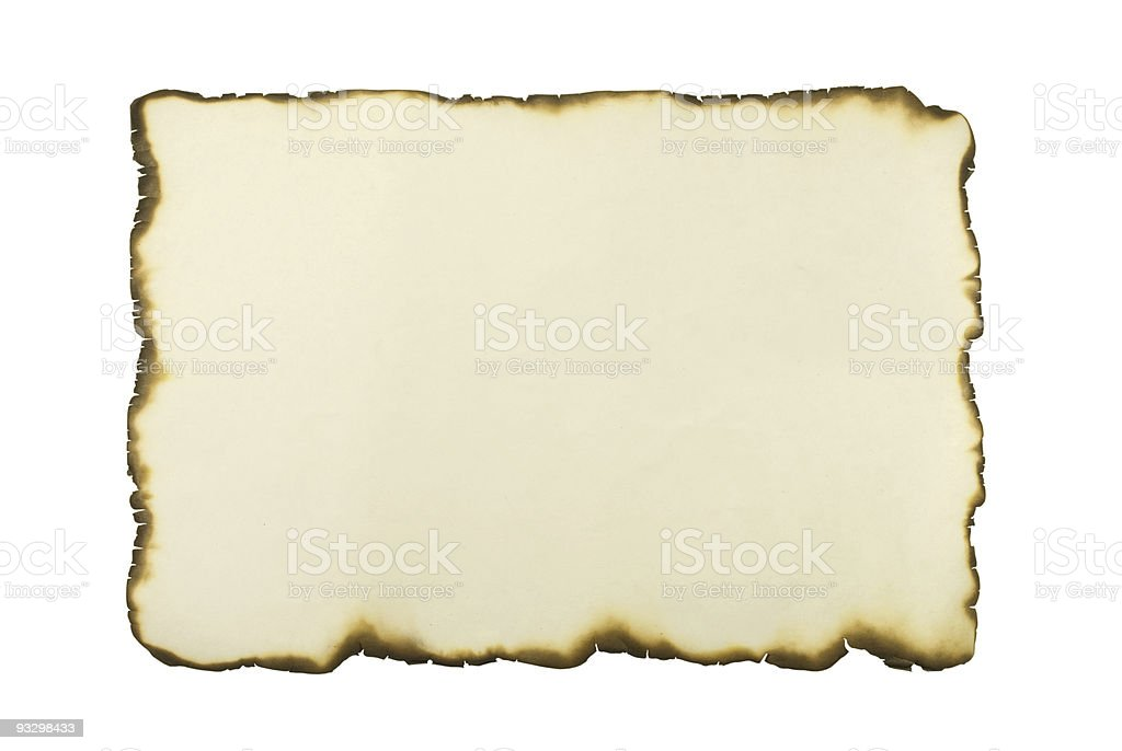 Sheet Of An Old Paper stock photo