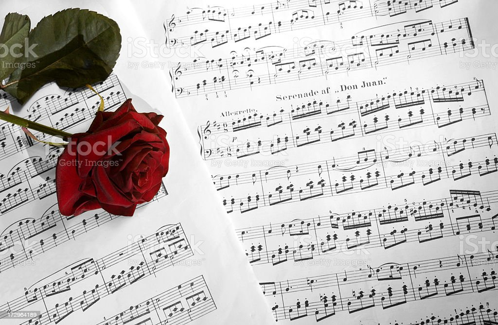 Sheet of classical notes stock photo