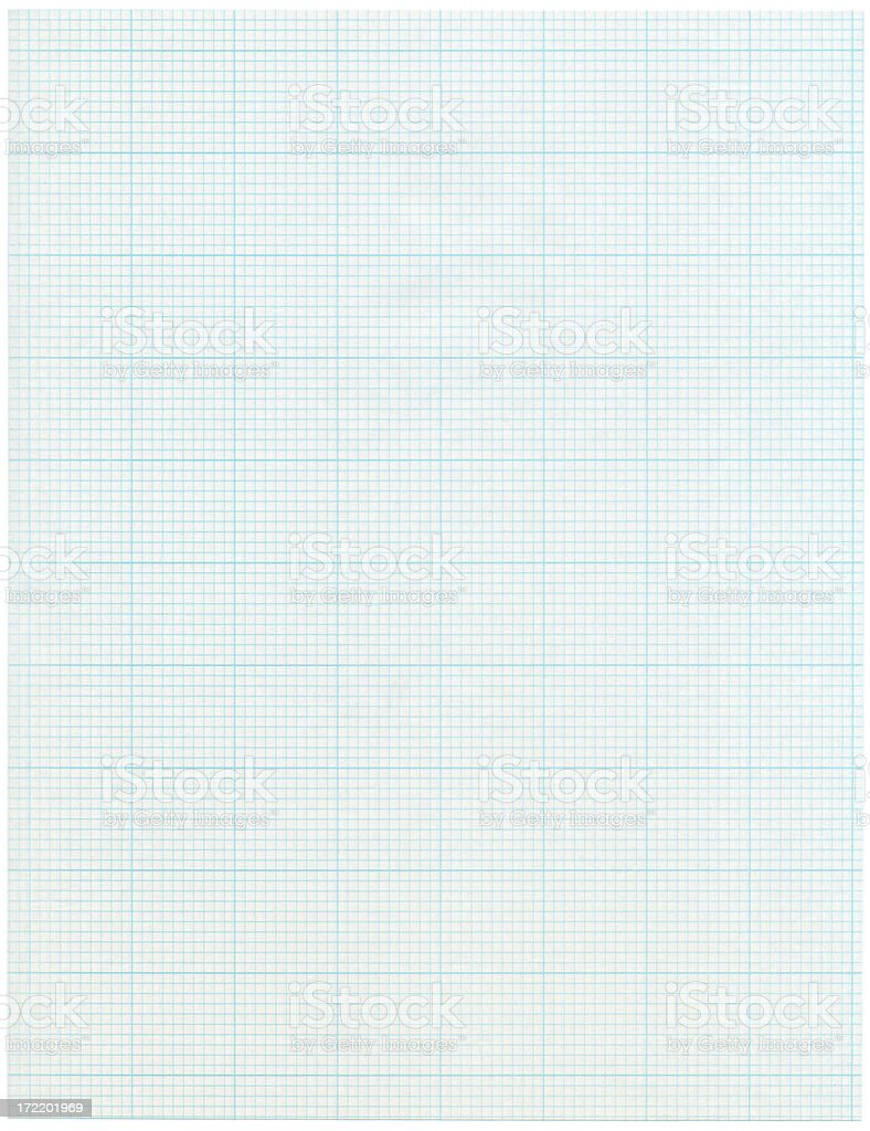 Sheet of Graph Paper Isolated on White royalty-free stock photo