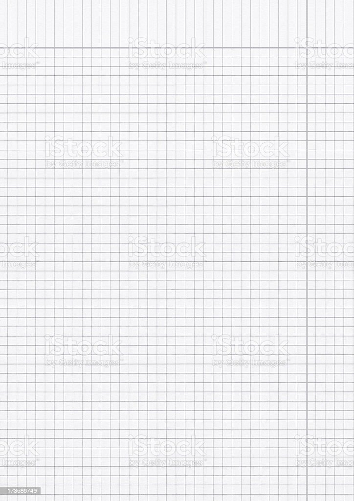 sheet of graph paper royalty-free stock photo