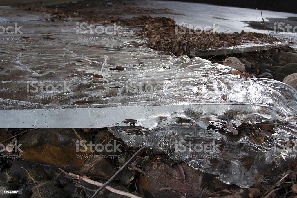 Sheet of Ice royalty-free stock photo