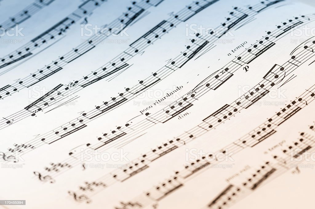 Sheet of music note royalty-free stock photo