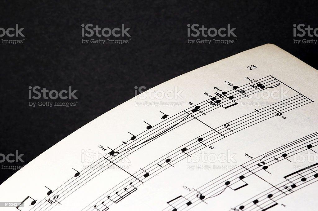 Sheet of music stock photo