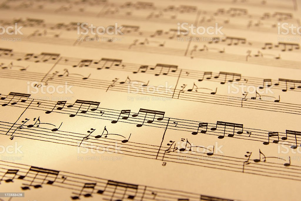 Sheet of musical symbol royalty-free stock photo