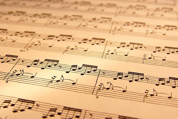arkusz symbol muzyczny - pięciolinia zdjęcia i obrazy z banku zdjęć