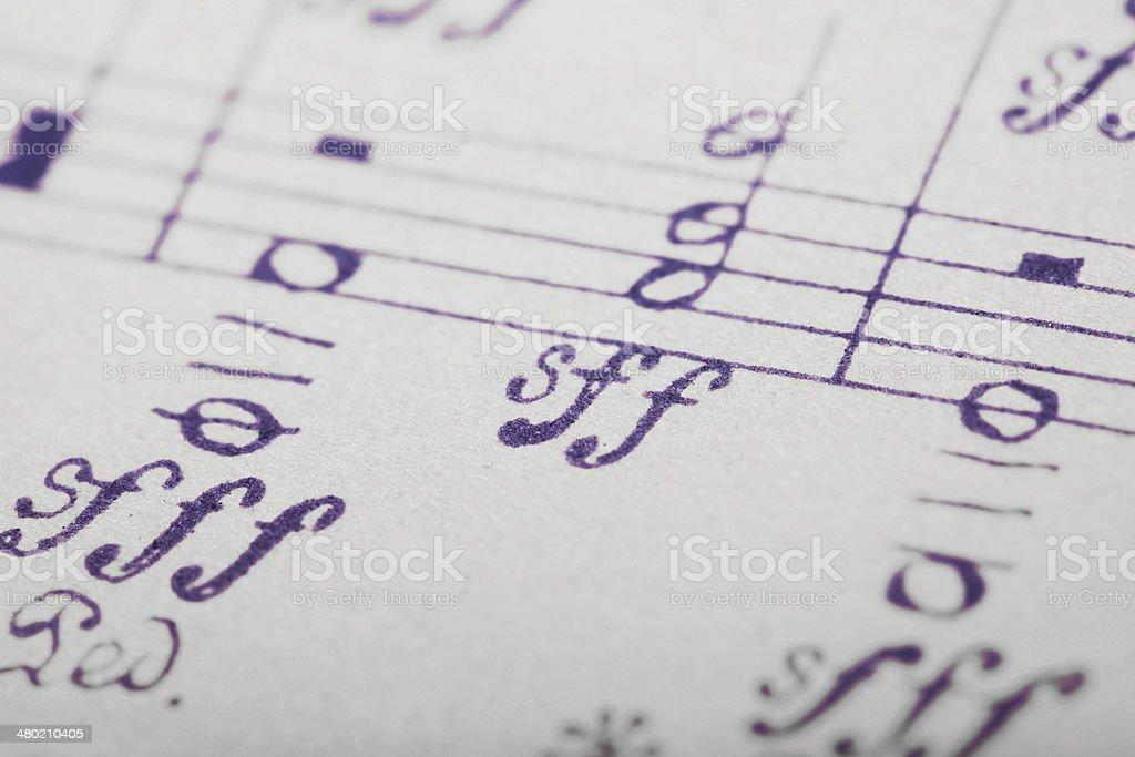 Sheet Of Musical Symbols stock photo