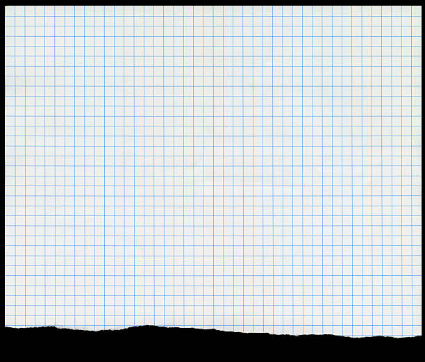 Sheet of New Graph Paper With Ragged Tear stock photo