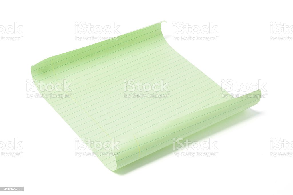 Sheet of Note Paper royalty-free stock photo