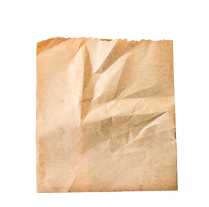 sheet of old paper isolated