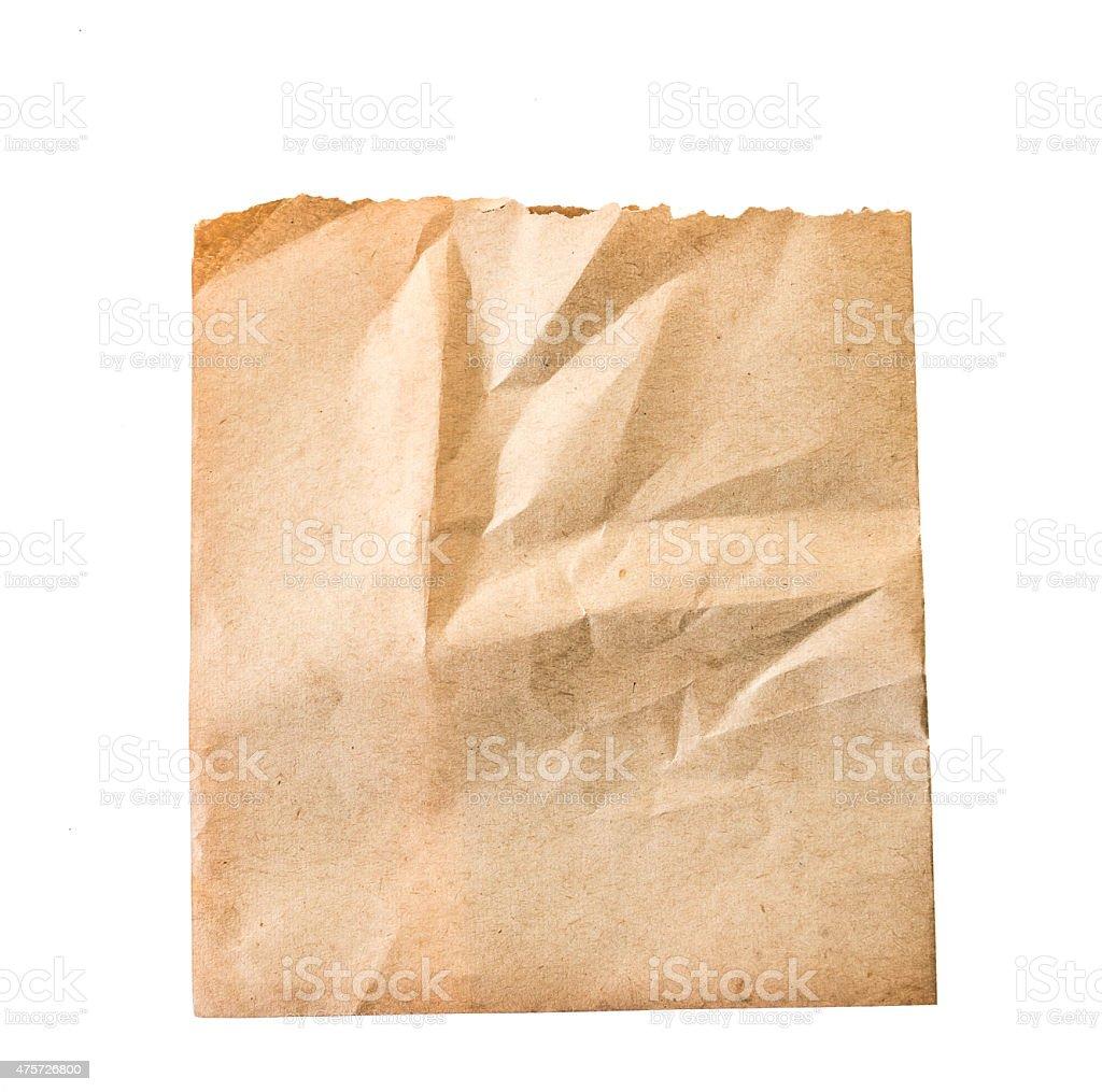 Folha de papel velho isolado - foto de acervo