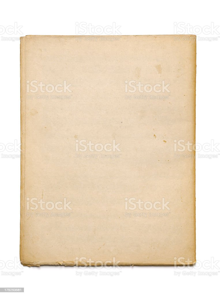 A sheet of old rough edged paper royalty-free stock photo