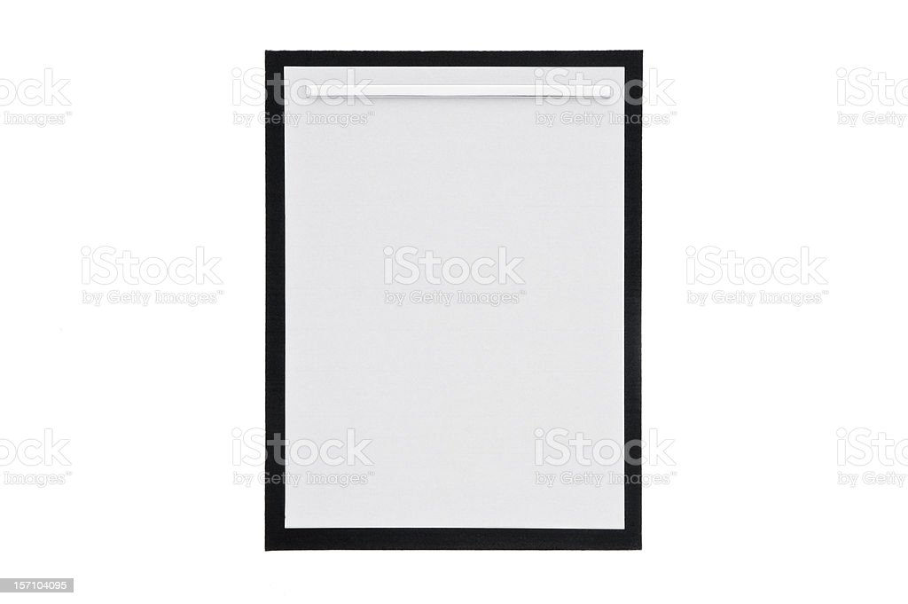 Sheet of paper for calligraphy stock photo