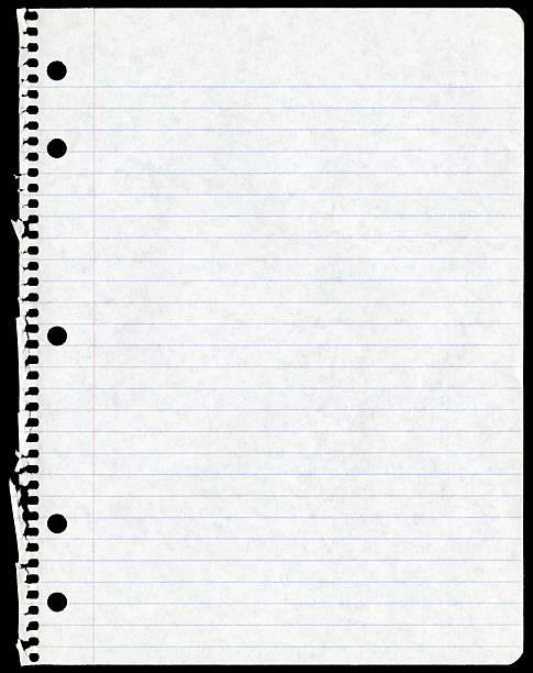 Blatt Papier Zerrissen von Spiralblock – Foto