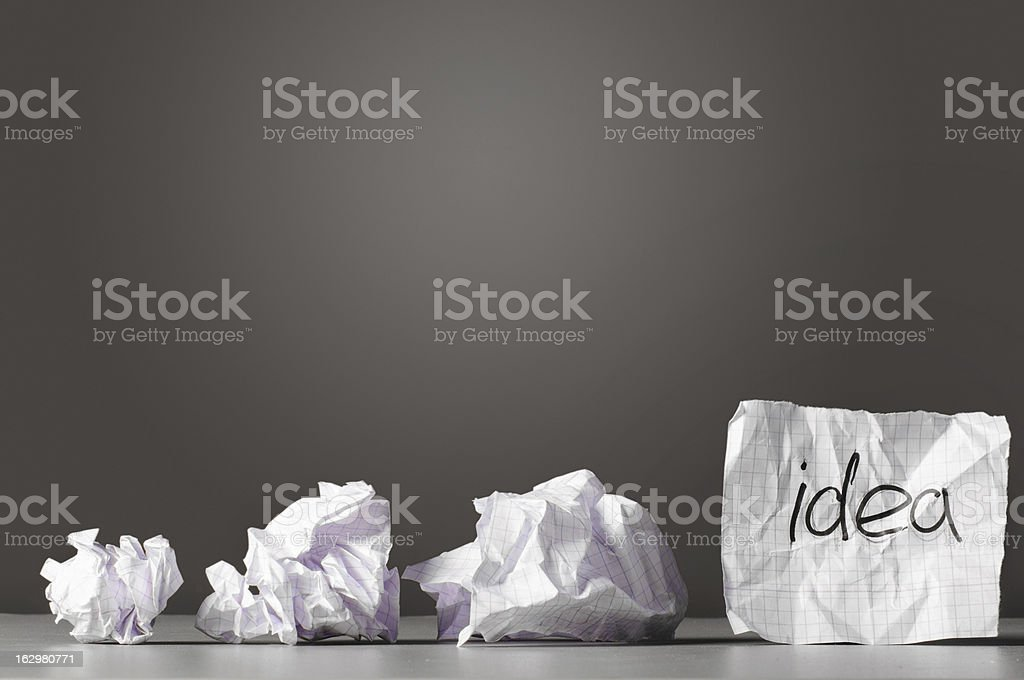 sheet of paper with word idea royalty-free stock photo