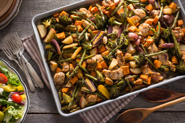 Sheet Pan Chicken stock photo