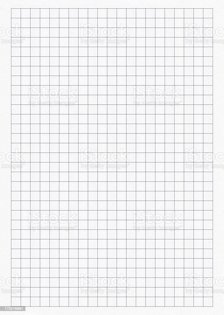 Sheet pattern of mathematical graphing paper royalty-free stock photo