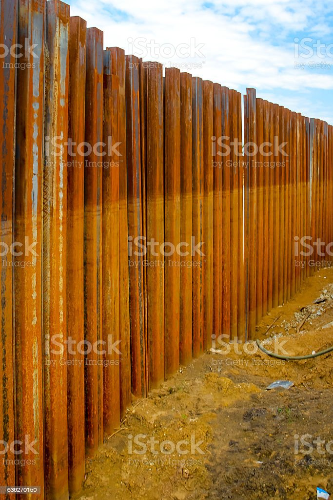 Sheet Pile Wall For Steel Retaining Wall Steel Sheet Pile ...