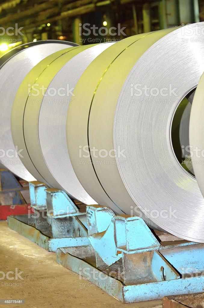 sheet rolls stock photo