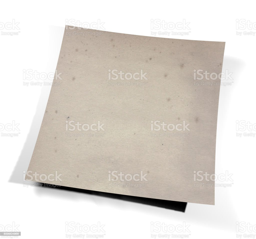 Sheet with curled corners, parchment effect. 3d rendering stock photo