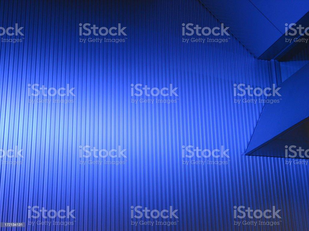Sheet-metal Under Blue Light royalty-free stock photo