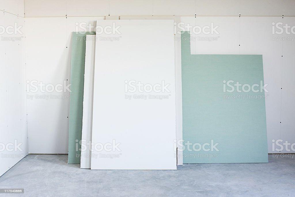 Sheetrock royalty-free stock photo
