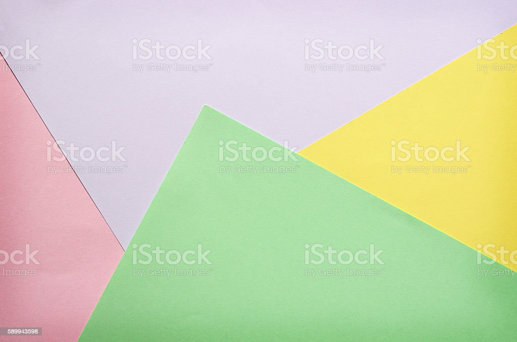 Sheets of color paper stock photo