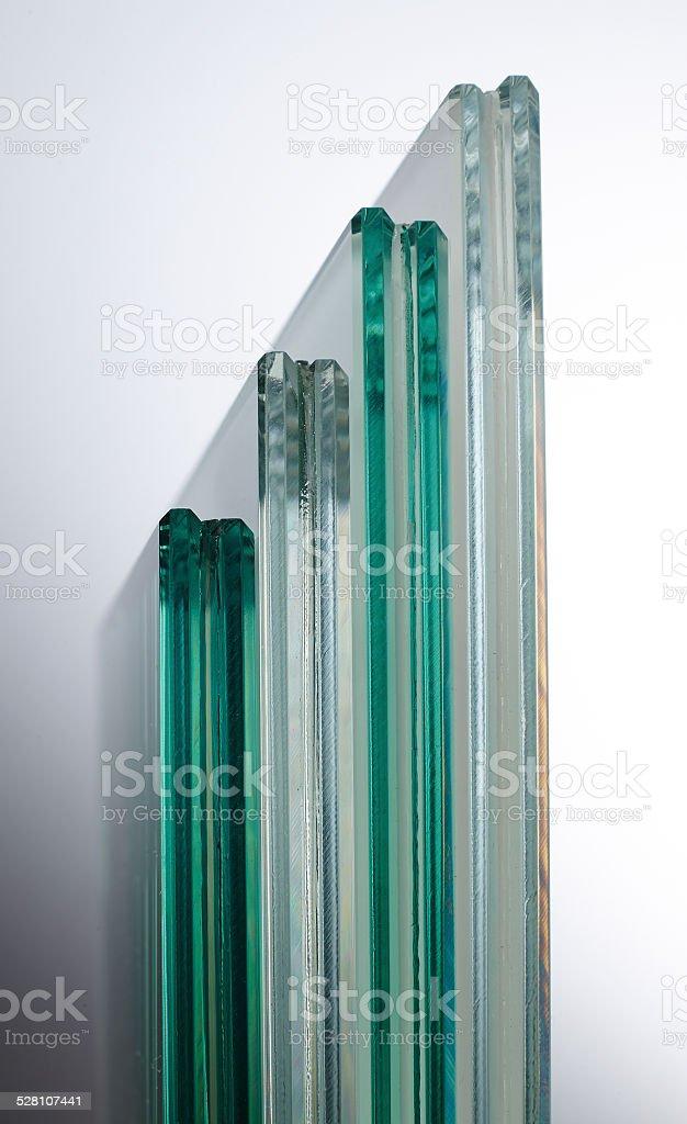 Sheets of laminated glass stock photo