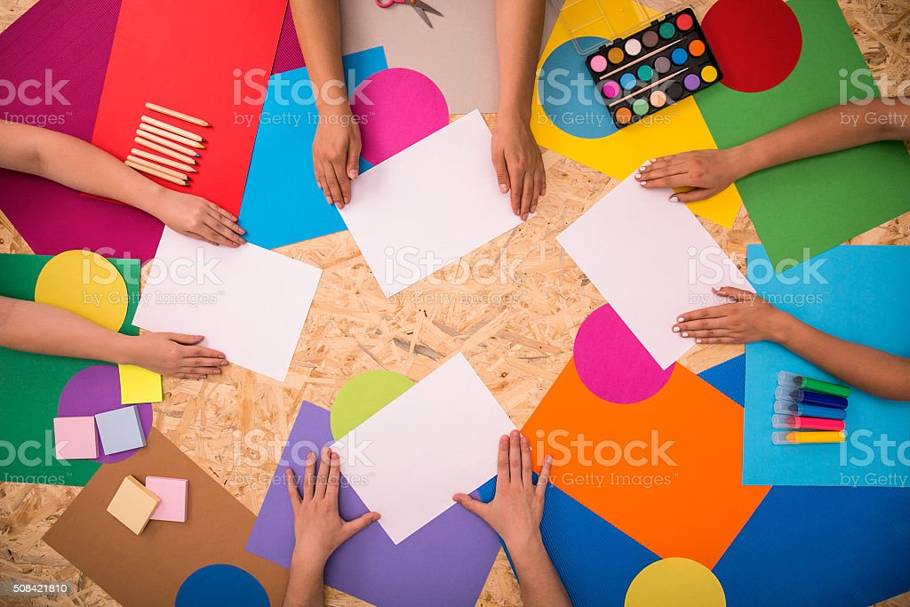 Sheets of printing paper stock photo