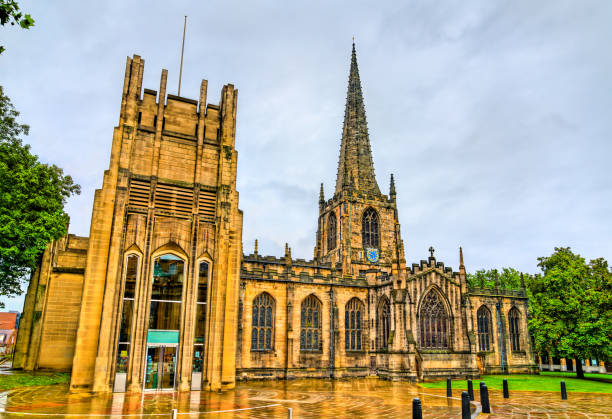 Sheffield Cathedral in South Yorkshire, England – Foto
